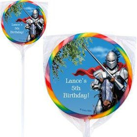 Medieval Knight Personalized Lollipops (pack of 12)