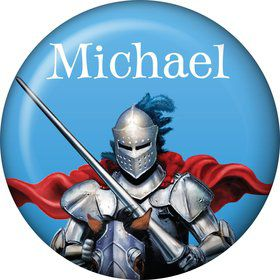 Medieval Knight Personalized Mini Button (Each)
