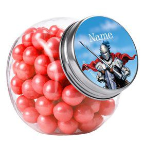 Medieval Knight Personalized Plain Glass Jars (12 Count)