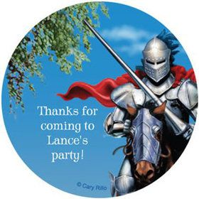 Medieval Knight Personalized Stickers (sheet of 12)