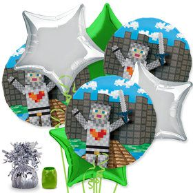 Medieval Pixels Balloon Bouquet Kit