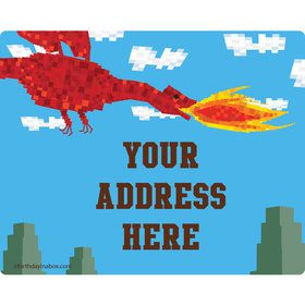 Medieval Pixels Personalized Address Labels (Sheet of 15)