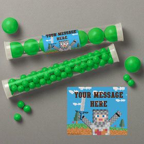 Medieval Pixels Personalized Candy Tubes (12 Count)