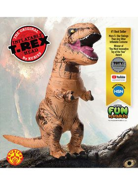 Men's Jurassic Park T-rex Inflatable Adu