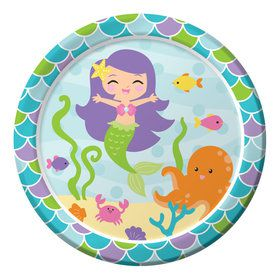 "Mermaid Friends 9"" Lunch Plates (8 Count)"
