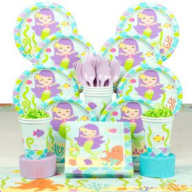 Mermaid Friends Birthday Deluxe Tableware Kit (Serves 8)