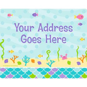 Mermaid Friends Personalized Address Labels (Sheet of 15)