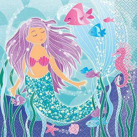 Mermaid Lunch Napkin (16)