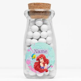 "Mermaid Personalized 4"" Glass Milk Jars (Set of 12)"
