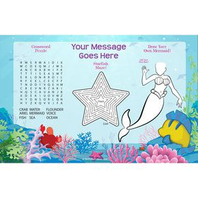 Mermaid Personalized Activity Mat (8 Count)
