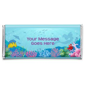 Mermaid Personalized Candy Bar Wrapper (Each)