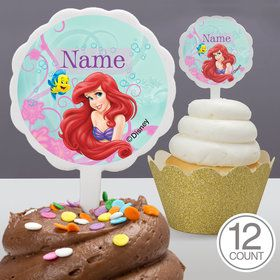 Mermaid Personalized Cupcake Picks (12 Count)
