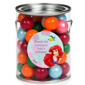 Mermaid Personalized Paint Can Favor Container (6 Pack)