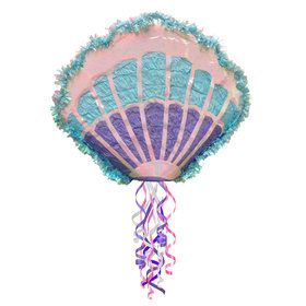 Mermaid Sea Shell Pull String Pinata
