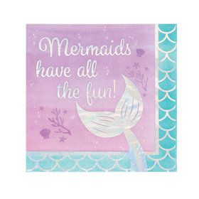 Mermaid Shine All the Fun Lunch Napkins (16)
