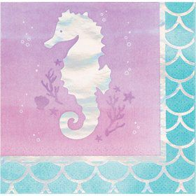 Mermaid Shine Beverage Napkins (16)