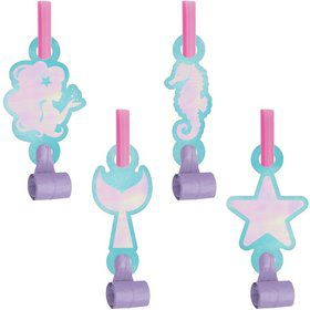 Mermaid Shine Blow Out Favors with Medallions
