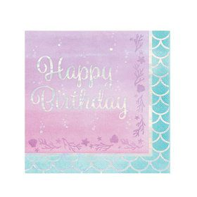 Mermaid Shine Happy Birthday Lunch Napkins (16)