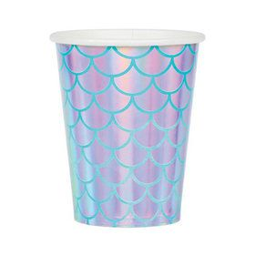 Mermaid Shine Iridescent 9oz Paper Cups (8)
