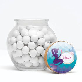 "Mermaid Under the Sea Personalized 3"" Glass Sphere Jars (Set of 12)"
