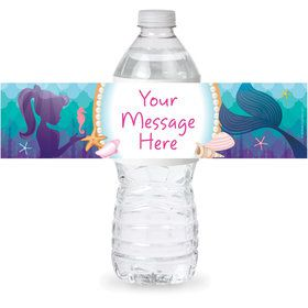 Mermaid Under the Sea Personalized Bottle Label (Sheet of 4)