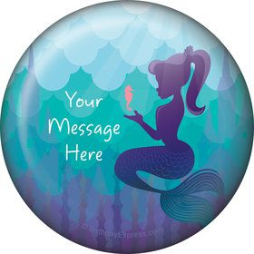 Mermaid Under the Sea Personalized Button (Each)