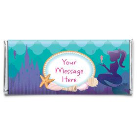 Mermaid Under the Sea Personalized Candy Bar Wrapper (Each)