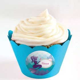 Mermaid Under the Sea Personalized Cupcake Wrappers (Set of 24)