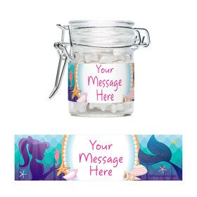 Mermaid Under the Sea Personalized Glass Apothecary Jars (12 Count)
