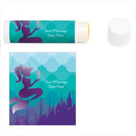 Mermaid Under the Sea Personalized Lip Balm (12 Pack)