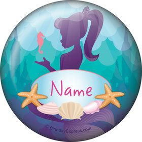 Mermaid Under the Sea Personalized Mini Button (Each)