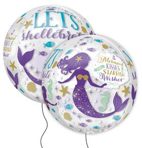 "Mermaid Wishes 16"" Orbz Balloon (1)"