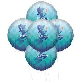Mermaids Under The Sea 5pc Foil Balloon Kit