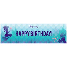 Mermaids Under the Sea Birthday Banner