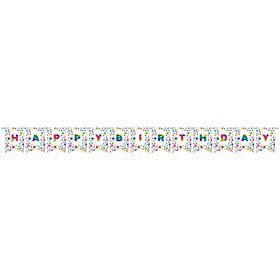 Metallic Rainbow DIY Happy Birthday Pennant Banner