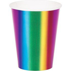 Metallic Rainbow Hot/Cold 9oz Cups