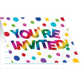 Metallic Rainbow Invitation (8)