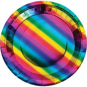 Metallic Rainbow Lunch Plate (8)