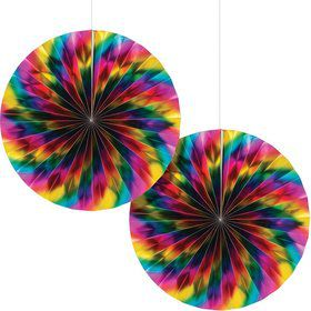 Metallic Rainbow Paper Fan (2)