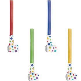Metallic Rainbow Party Blowers (8)