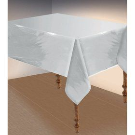 "Metallic Silver Table Cover 54""x108"""