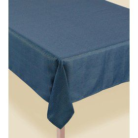 Metallic Teal Luxury Fabric Table Cover