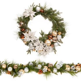 Metallic Wreath Garland Set