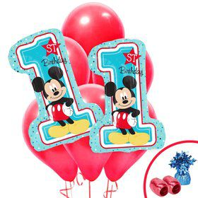 Mickey 1st Birthday Jumbo Balloon Bouquet