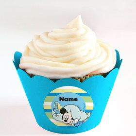 Mickey 1st Birthday Personalized Cupcake Wrappers (Set of 24)