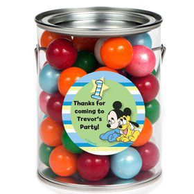 Mickey 1st Birthday Personalized Paint Can Favor Container (6 Pack)