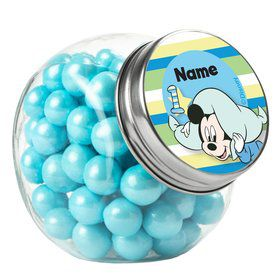 Mickey 1St Birthday Personalized Plain Glass Jars (12 Count)