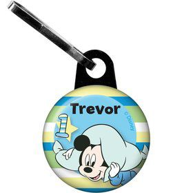 Mickey 1st Birthday Personalized Zipper Pull (Each)