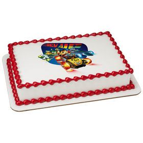 Mickey And The Roadster Racers Quarter Sheet Edible Cake Topper (Each)