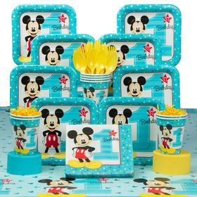 Mickey Mouse 1st Birthday Deluxe kit Serves 8 Guests
